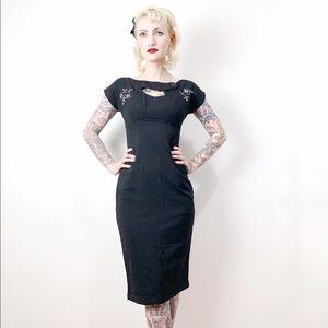 Tatyana Sierra Black Pinup Wiggle Dress XS